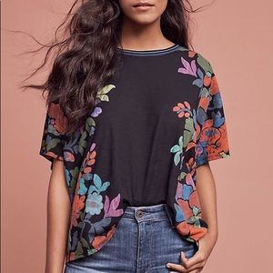 Anthropologie Rainforest Top XS Dolman Sleeve Flor